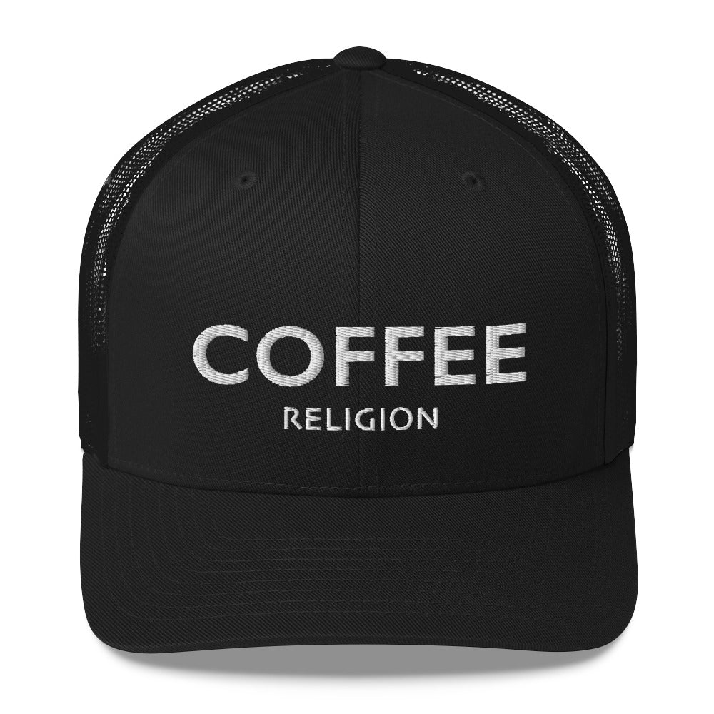 COFFEE RELIGION Trucker Hat Cap - KATANA FASHION BOUTIQUE