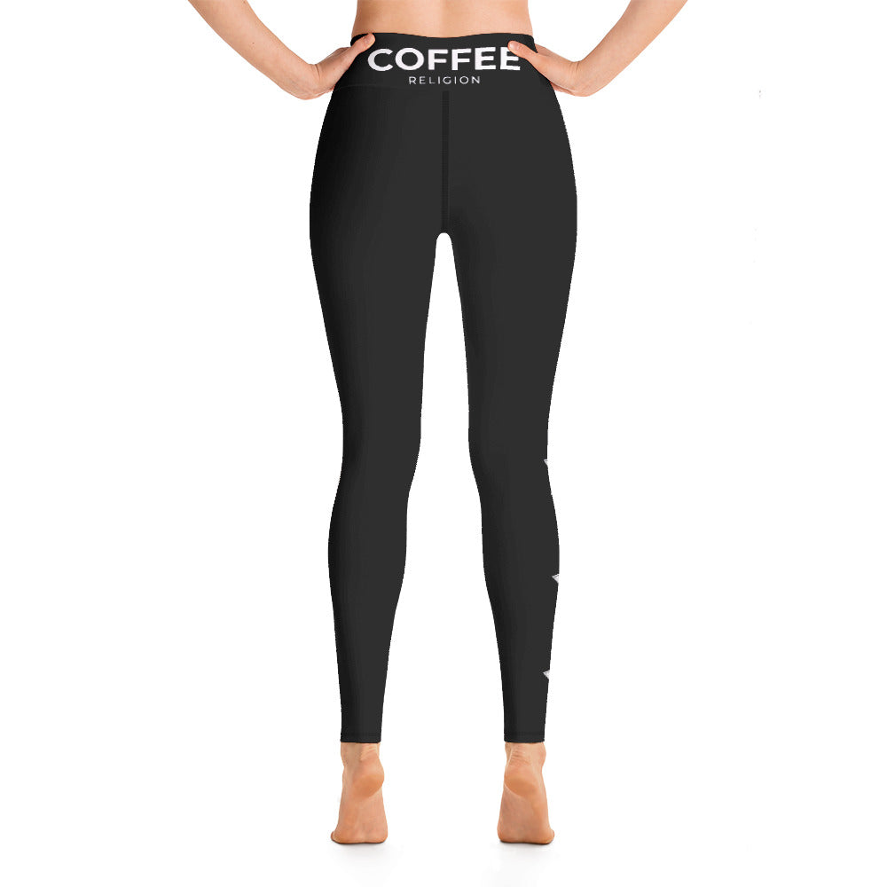 COFFEE RELIGION STAR Yoga Leggings