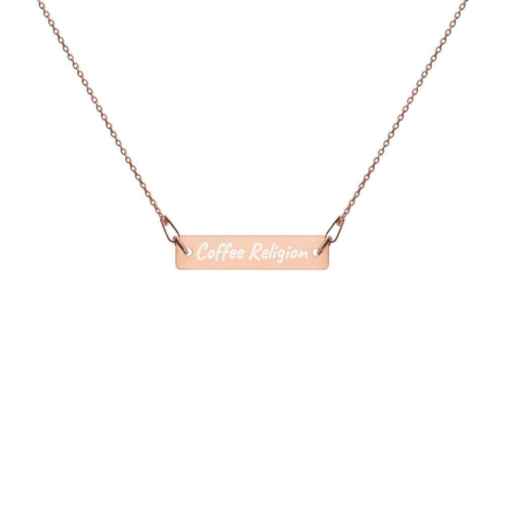 COFFEE RELIGION 18 KT Rose Gold Necklace - KATANA FASHION BOUTIQUE