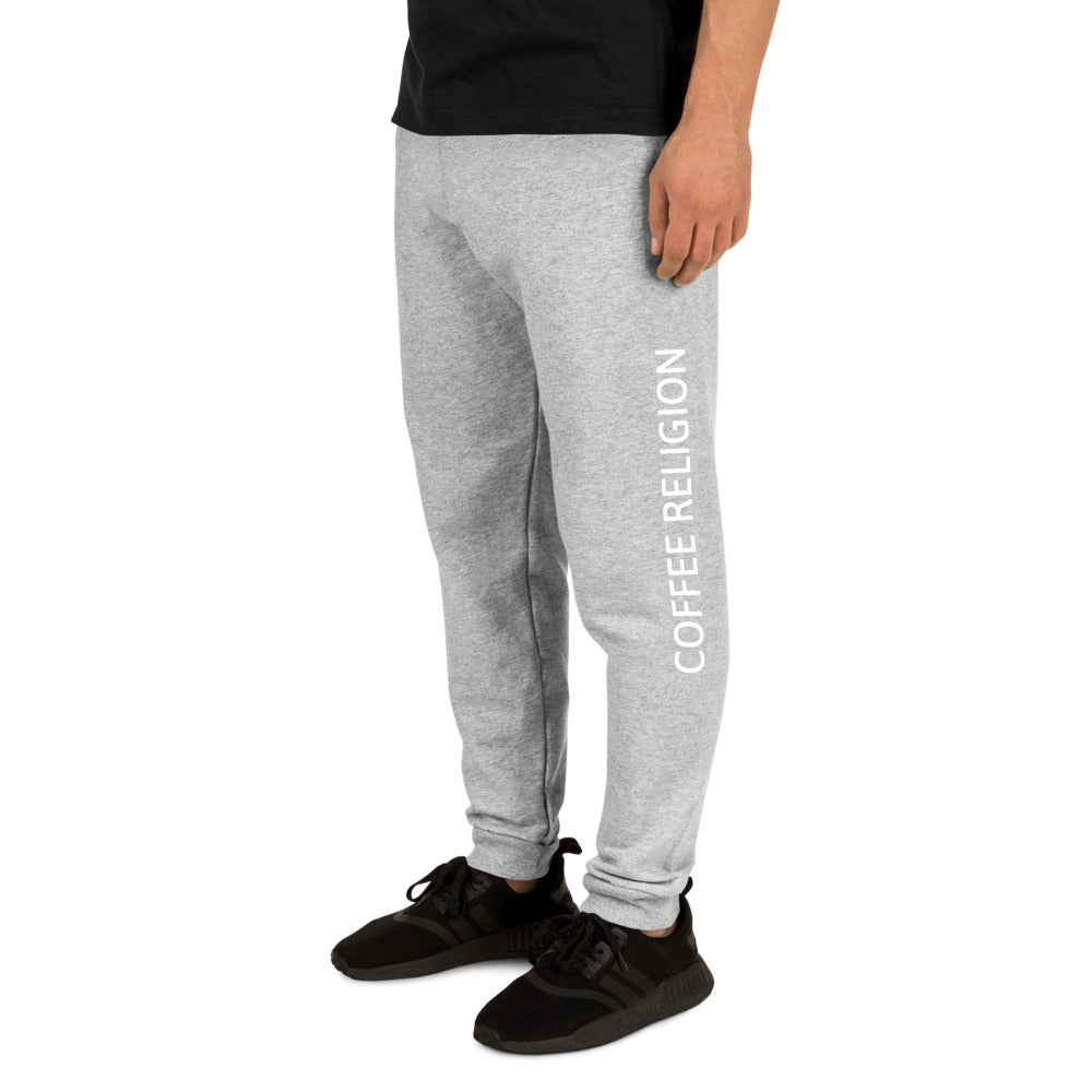 Grey COFFEE RELIGION Unisex Jogger Yoga Pants