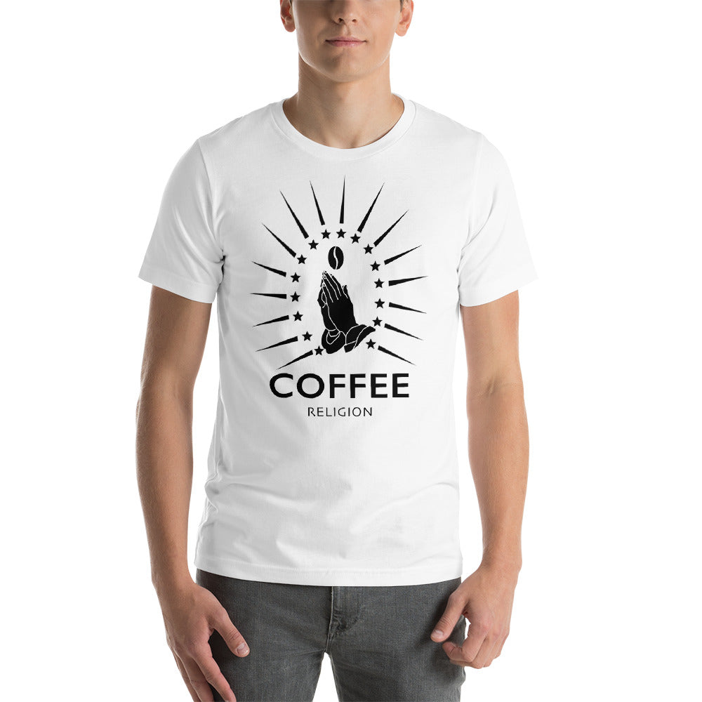 COFFEE RELIGION Coffee Bean Short-Sleeve Unisex T-Shirt