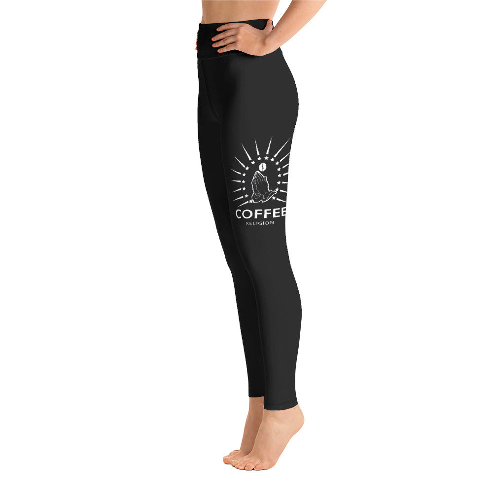 BLACK COFFEE RELIGION Tattoo Yoga wear Leggings