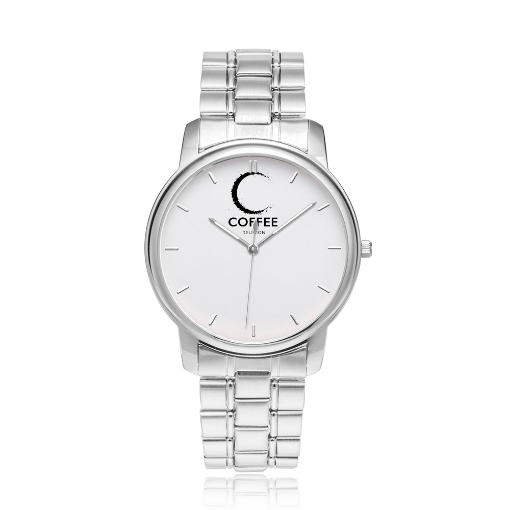 COFFEE RELIGION MIAMI COFFEE TIME Silver Watch - KATANA FASHION BOUTIQUE