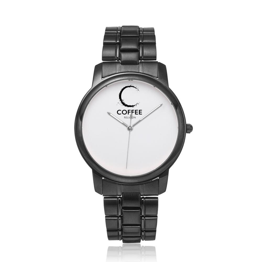 COFFEE RELIGION by Katana brand Black COFFEE TIME Watch 40mm - KATANA FASHION BOUTIQUE