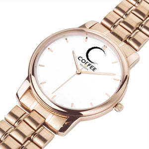 COFFEE RELIGION MIAMI COFFEE TIME Watch in Rose Gold - KATANA FASHION BOUTIQUE