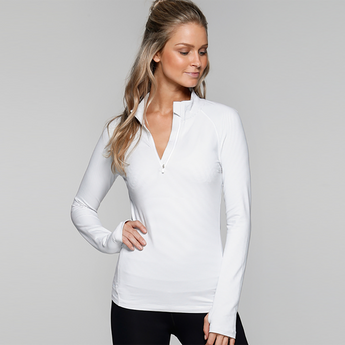 Unwind Half Zip Through | Galaxy/White Stripe