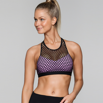 Jez Sports Bra | Black/Soft Lilac