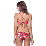 Softy Photo Bikini Top | Red
