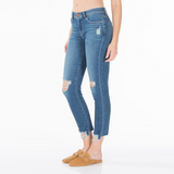 Stevie Crop Mid Rise Tapered | Morocco Blue
