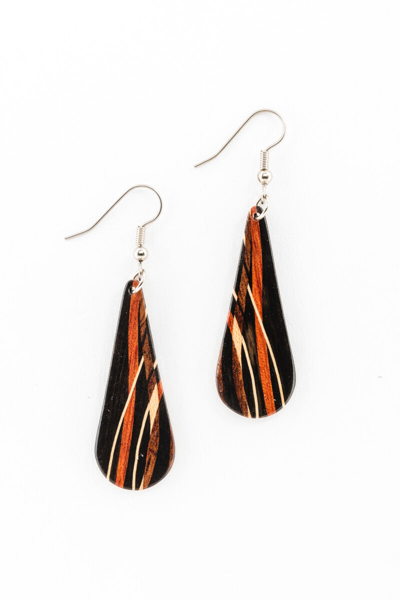 Earrings - Inlay Teardrops