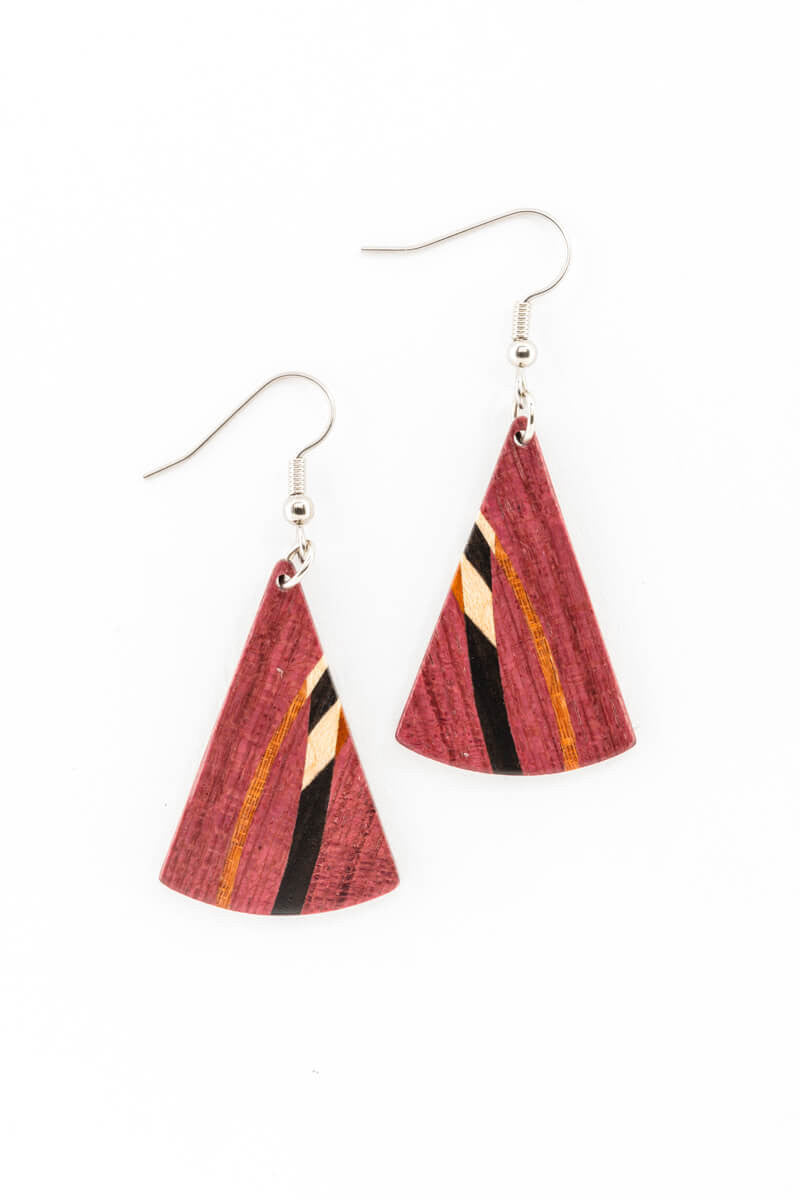 Earrings - Inlay Fans