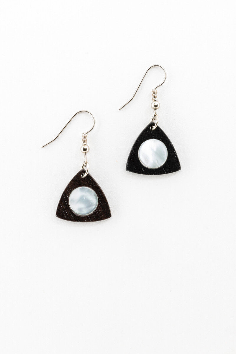 Earrings - Petite Mother of Pearl Fans