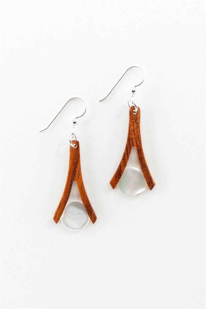 Earrings - Mother of Pearl Wishbones