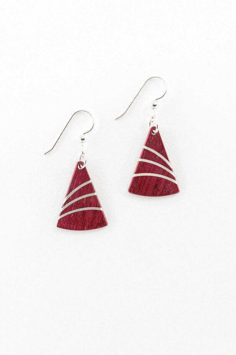 Earrings - Petite Silver Fans