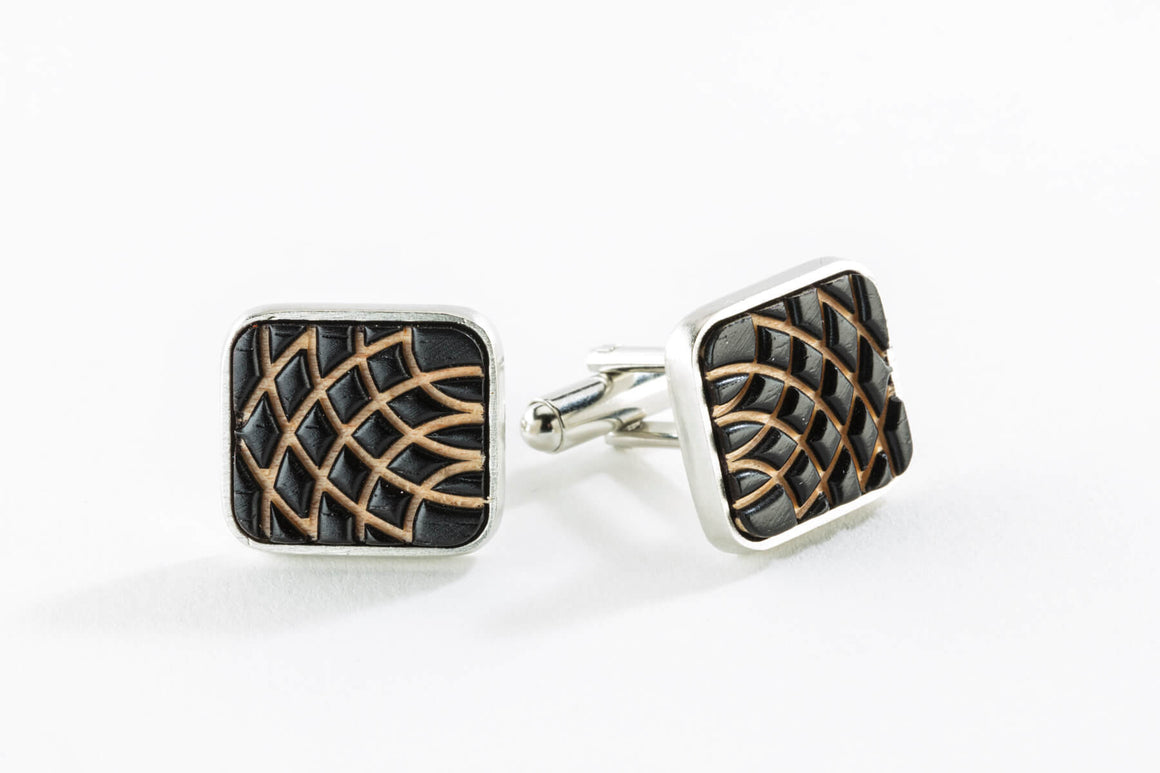Cuff Links - Carved
