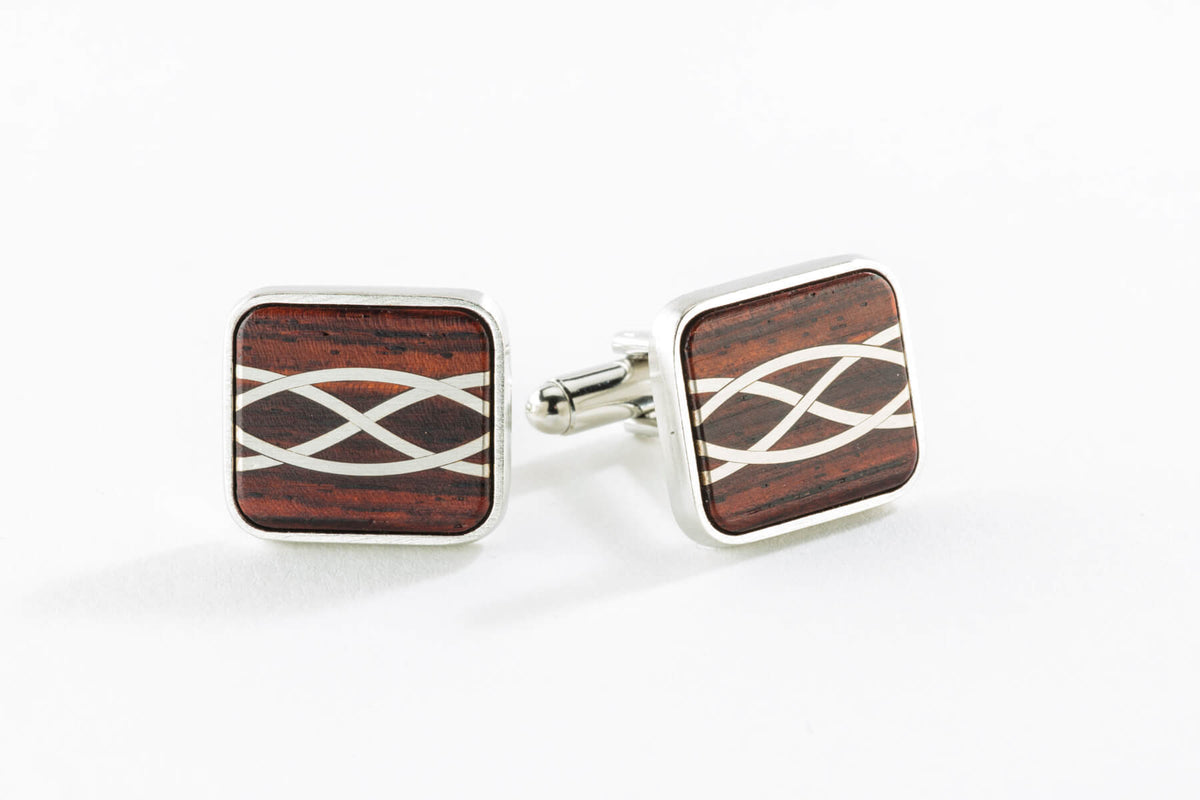 Cuff Links - Silver Inlay