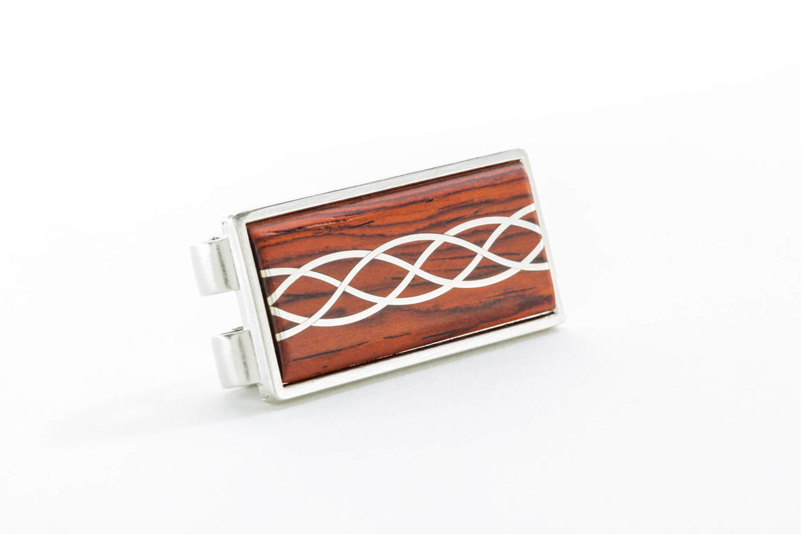 Money Clip - Silver Inlay
