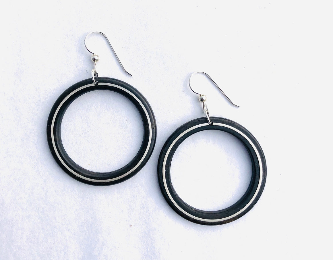 Earrings - Large Hoop with Silver