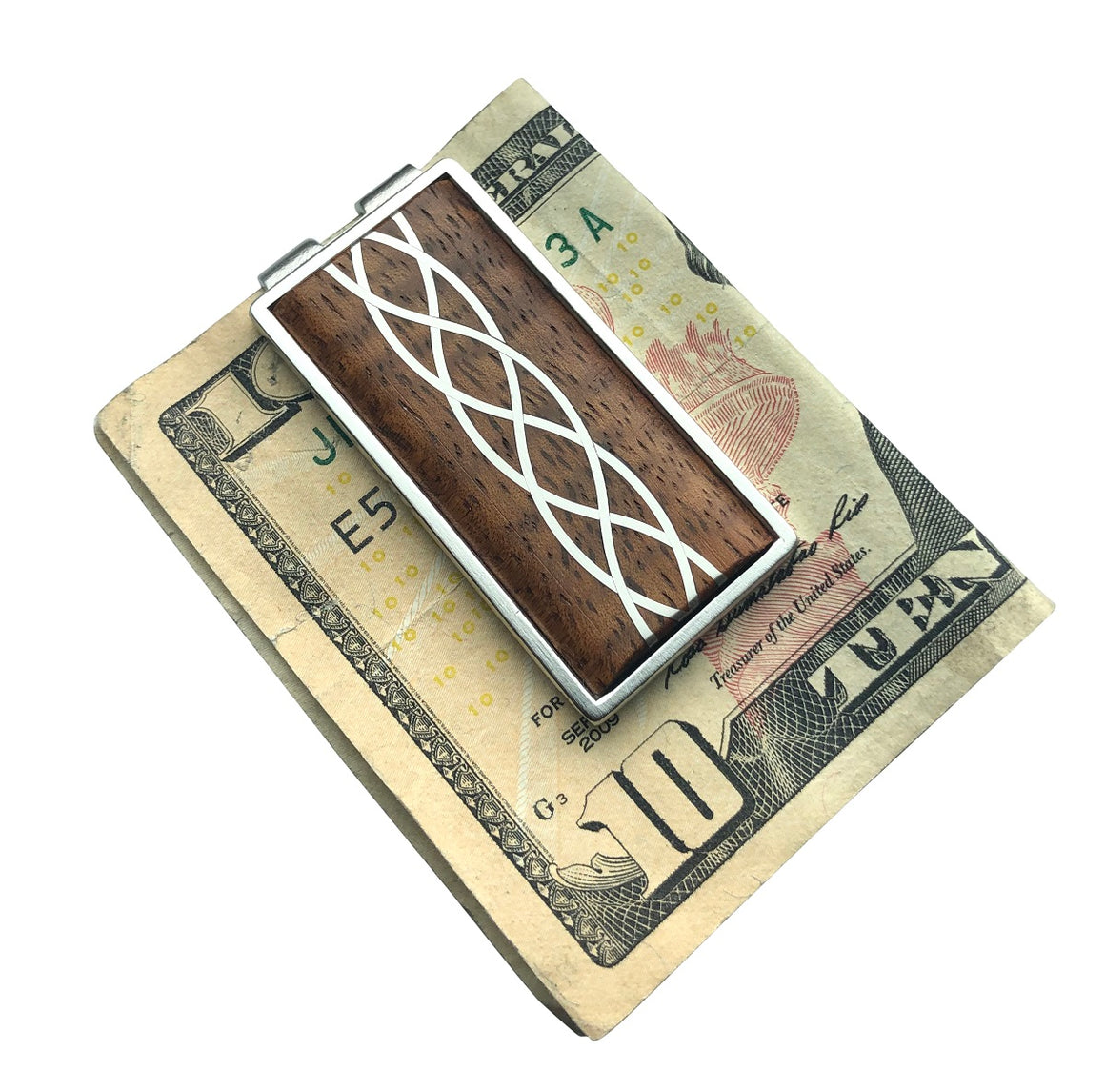 Money Clip - Silver Inlay with Hawaiian koa