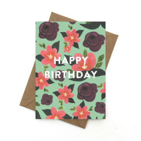 Happy Birthday Card - Azalea - English Country Paper Co.
