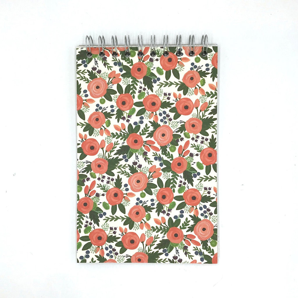 Garden Corsage Spiral Bound Reporter's Notepad - English Country Paper Co.