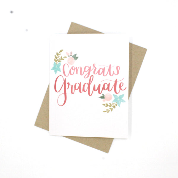 (Wholesale) Congrats Graduate Card - English Country Paper Co.
