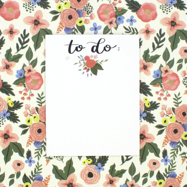 To Do Notepad - English Country Paper Co.