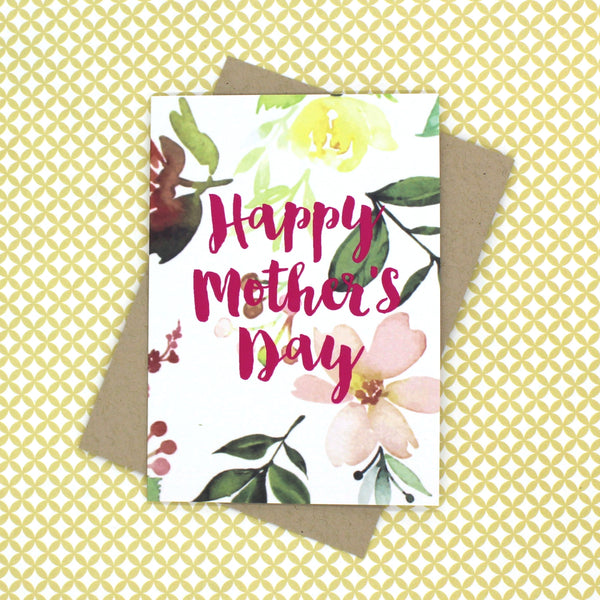 Wildflower Mother's Day Card - English Country Paper Co.