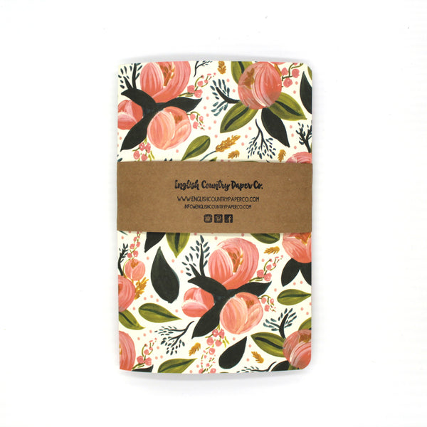 Peach Blossom Notebook - English Country Paper Co.