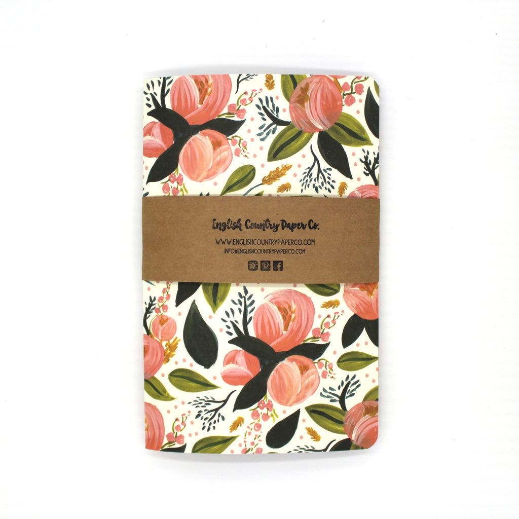 (Wholesale) Peach Blossom Notebook - English Country Paper Co.