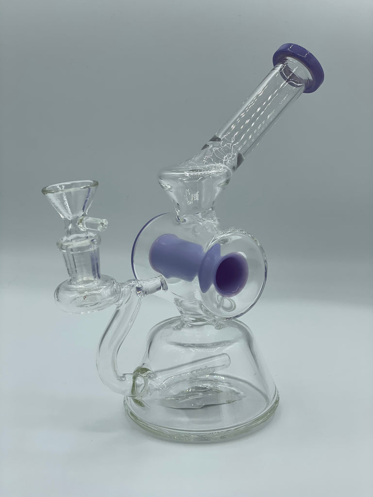 Purple Bong Glass Piece - 8""