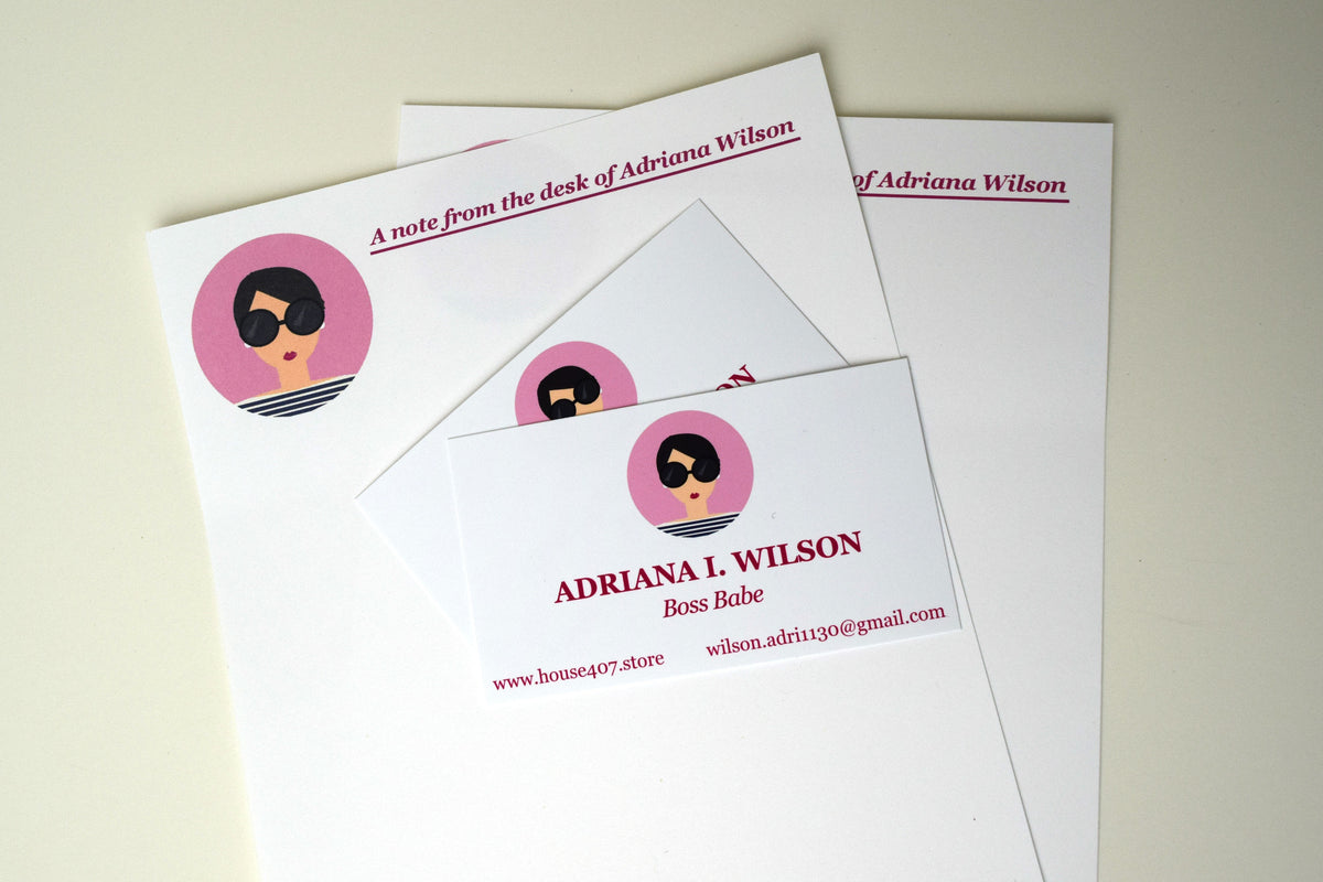 Personalized Stationery and 50 Business Cards
