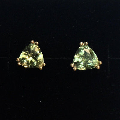 1.6g 14k Yellow Gold Peridot Earrings