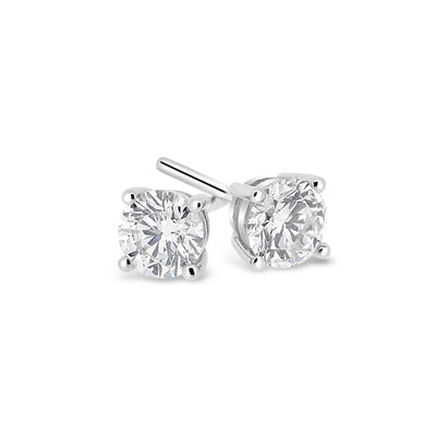 1.2g 14k White Gold .30ct I1 E-F Diamond Studs