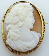 Vintage shell cameo gold plated