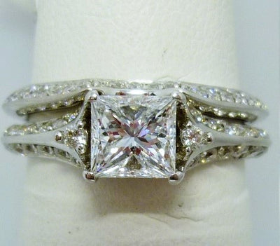 Ring Set 4.08g 14K; 0.80ct I,E; 0.70cttw Dia