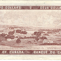 1954 $2 Note Bank of Canada - AU