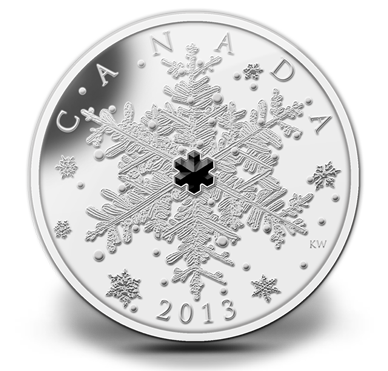 2013 - $20 - 1 OZ. FINE SILVER COIN - WINTER SNOWFLAKE