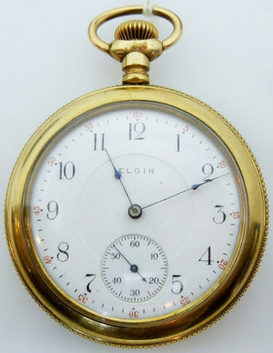 Elgin pocket watch 20 year gold filled