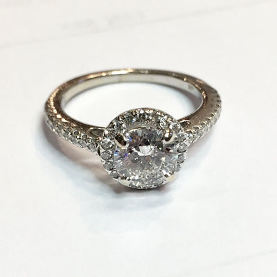 2.95g 14k White Gold 0.93ct SI2 E Engagement Ring