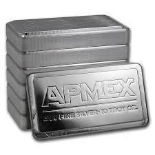Apmex 10 Ounce Silver Bar