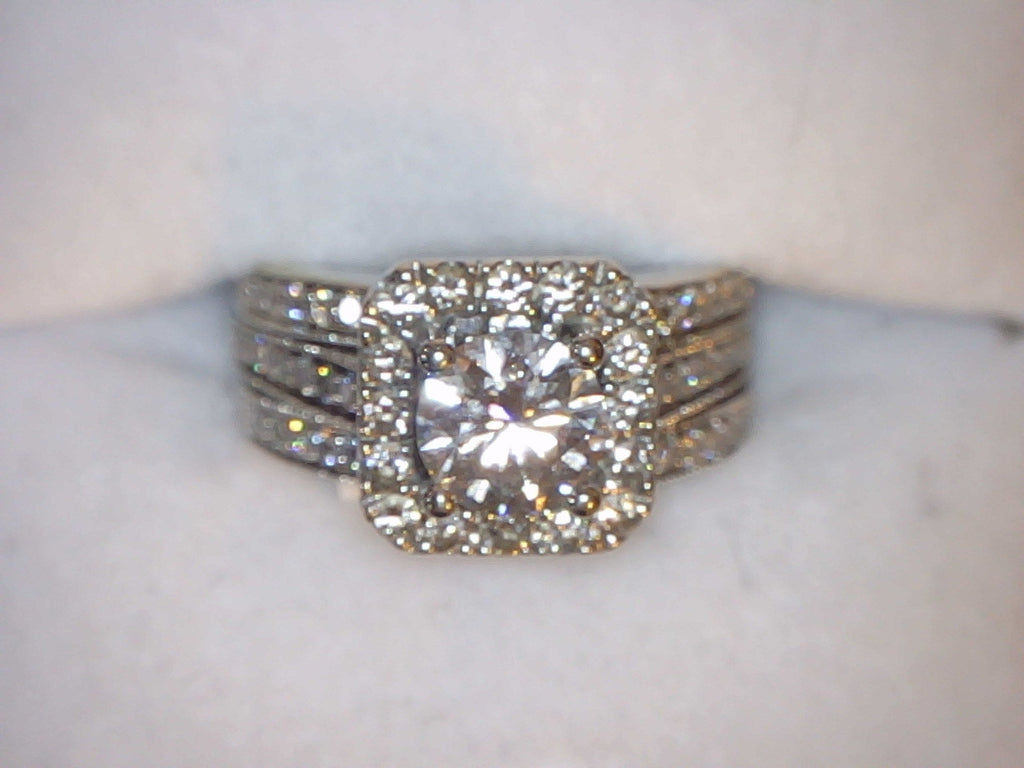 Ring 8g 14K 1.02ct I1 G Diamond Engagement Set