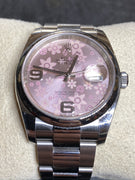 Rolex Pink Flower Arabic  Pink Flower Datejust 36mm