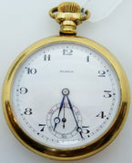 Vintage ELBICO pocket watch gold filled 17 jewels