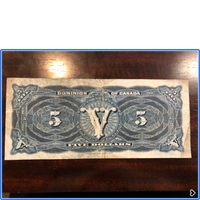 1912 Dominion Of Canada $5.00 Graded F12 CCGS