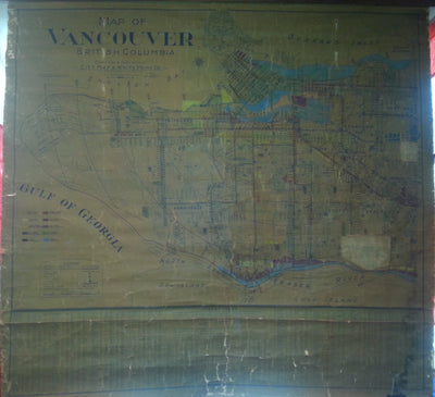 Map of Vancouver, BC. City Map and Blueprint Co.