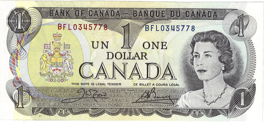1973 $1 Note Bank of Canada - Set of 3