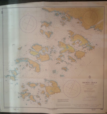 Nautical  Chart / Map: Broken Group (Barkley Sound), British Columbia.   #3638