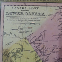 Canada East formerly Lower Canada - A. Michell, 1848