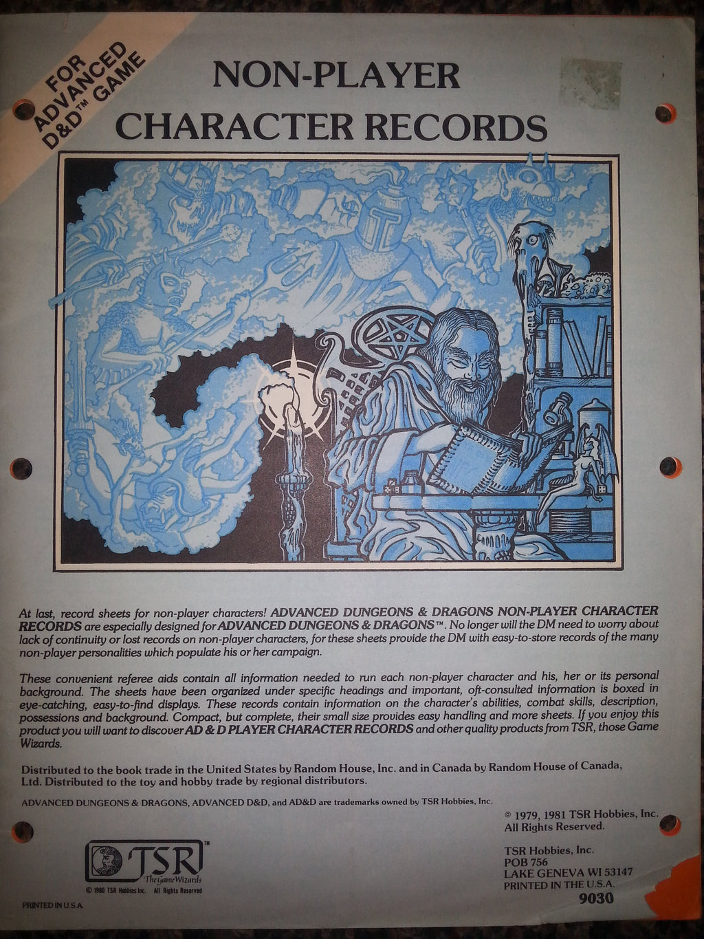 Dungeons and Dragons Non-Player Records